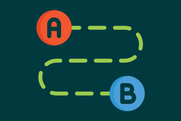 connect a to b