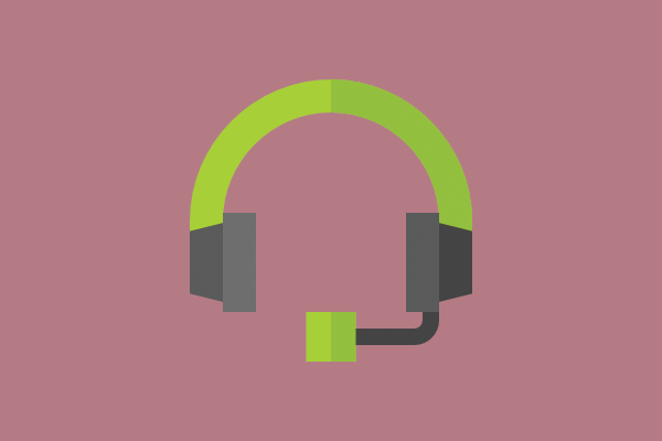 a customer support headset