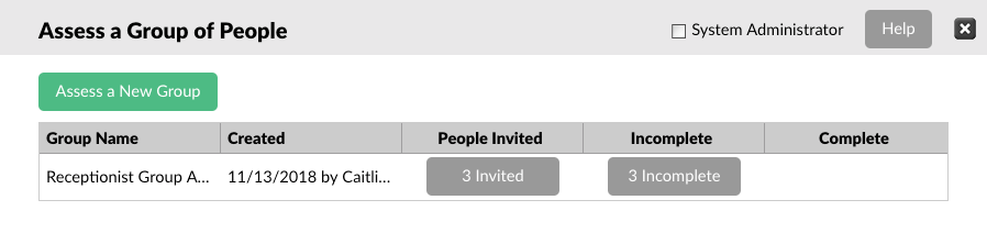 screenshot of checking group invite status