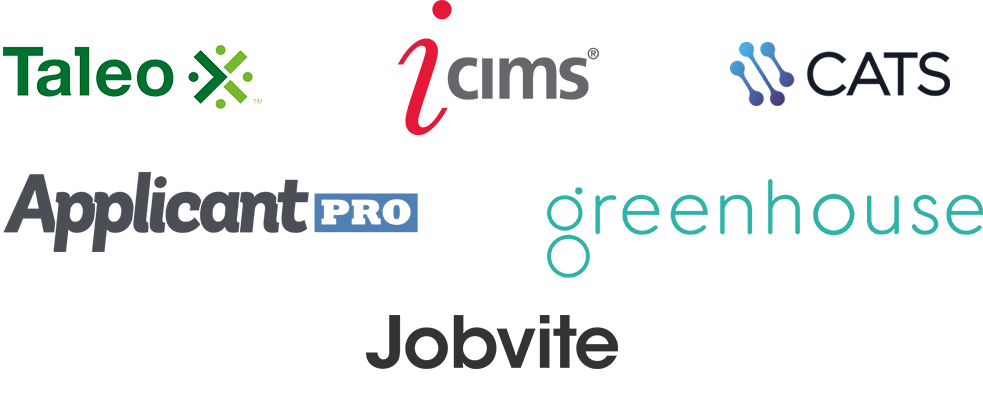 Taleo, ICIMS, CATS, Jobvite, Greenhouse, ApplicantPro
